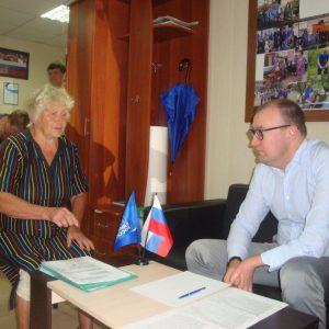 В Петровском районе провел прием Завязкин Р.А.