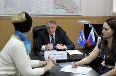 Депутат Думы Ставропольского края Валентин Аргашоков провел прием