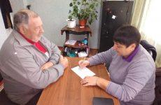 Партийцы Андроповского района провели прием граждан