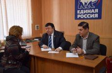 Депутаты Думы Ставропольского краяСергей Чурсинов и Петр Марченко провели личный приемграждан