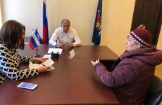 Депутат Думы Ставропольского края Игорь Андрющенко провел прием граждан