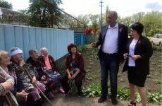Общественно-патриотическая акция «Утро Победы» прошла в поселке Горьковском Новоалександровского района