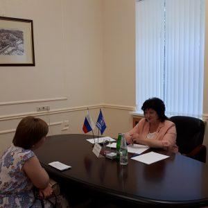 Министр культуры Ставропольского края Татьяна Лихачева отвечала на вопросы представителей учреждений культуры города Ставрополя.