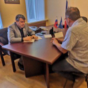 Андрей Юндин провел личный прием граждан