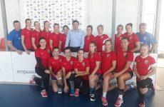 Дмитрий Судавцов встретился с женской гандбольной командой «Ставрополье»