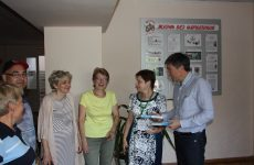 Дмитрий Судавцов провел встречу с руководством и работниками МБОУ СОШ N°18 города Ставрополя