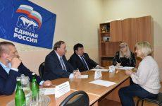 Краевые депутаты Пётр Марченко и Сергей Чурсинов встретились в жителями Шпаковского района