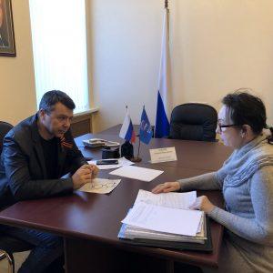 Андрей Юндин провел прием граждан
