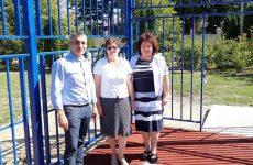 В станице Ессентукской Предгорного района открылась новая спортивная площадка