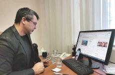 Краевой депутат Андрей Юндин провел прием граждан в онлайн-формате