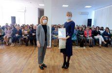 Ольга Тимофеева говорит о послании Президента с педагогами Ставрополья